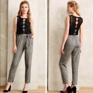 Anthropologie 4P jumpsuit missing belt
